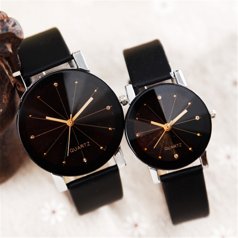 Women Quartz Watches Relogio Masculinos Fashion Dial Time Men Clock Leather Dress Round Case Hour Lovers Watch Bayan Kol Saat