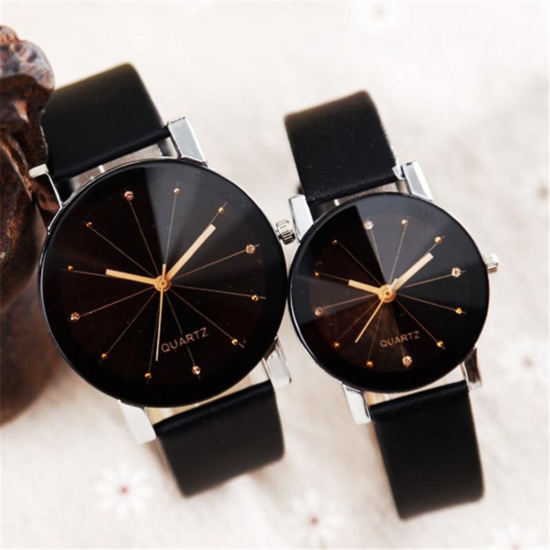 Women Quartz Watches Relogio Masculinos Fashion Dial Time Men Clock Leather Dress Round Case Hour Lovers Watch Bayan Kol Saat