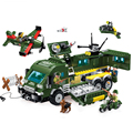 LEWEIHUAN Educational DIY Building Blocks Military Series Armored vehicles Battle Bricks Compatible With Legoe Toy For Kids Gift