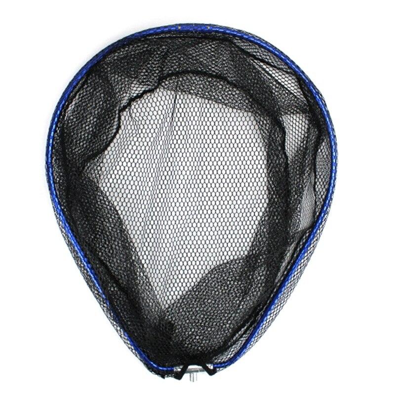 Fishing Landing Net Durable Lightweight Fishing Landing Mesh Folding with Metal Frame Ring
