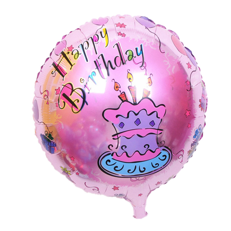 BINGTINA The new 18-inch round Happy Birthday balloons party balloons decorated