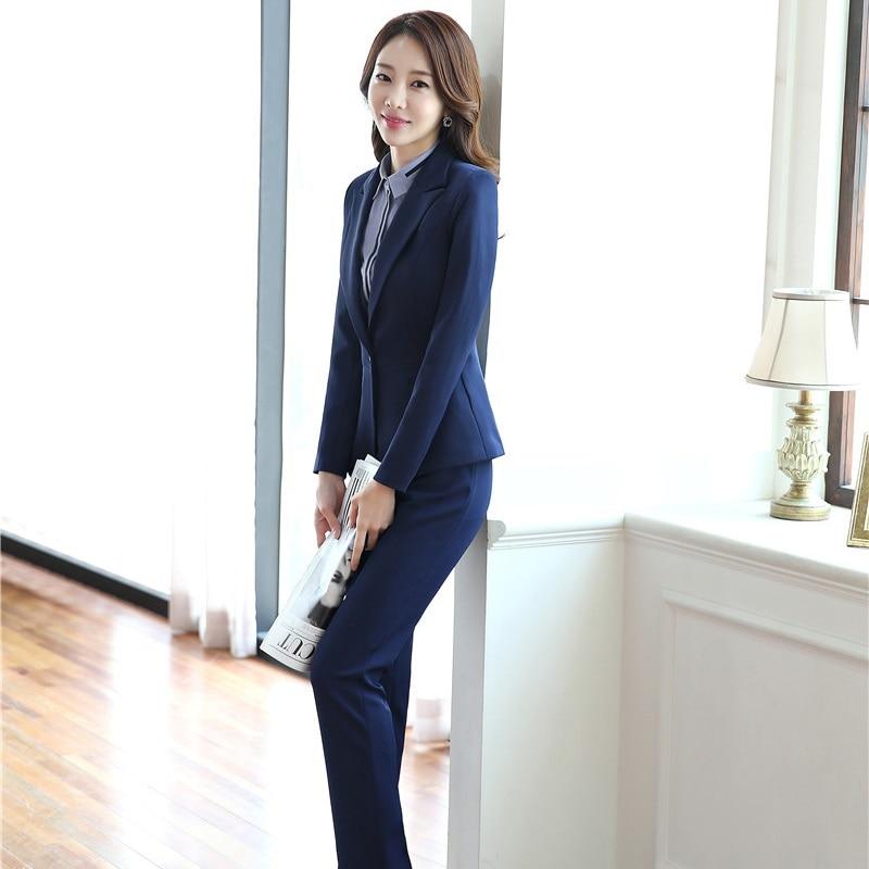 Autumn Winter Professional Pantsuits For Business Women Work Wear With 3 pieces Jackets + Pants + Vest Blazers Plus Size
