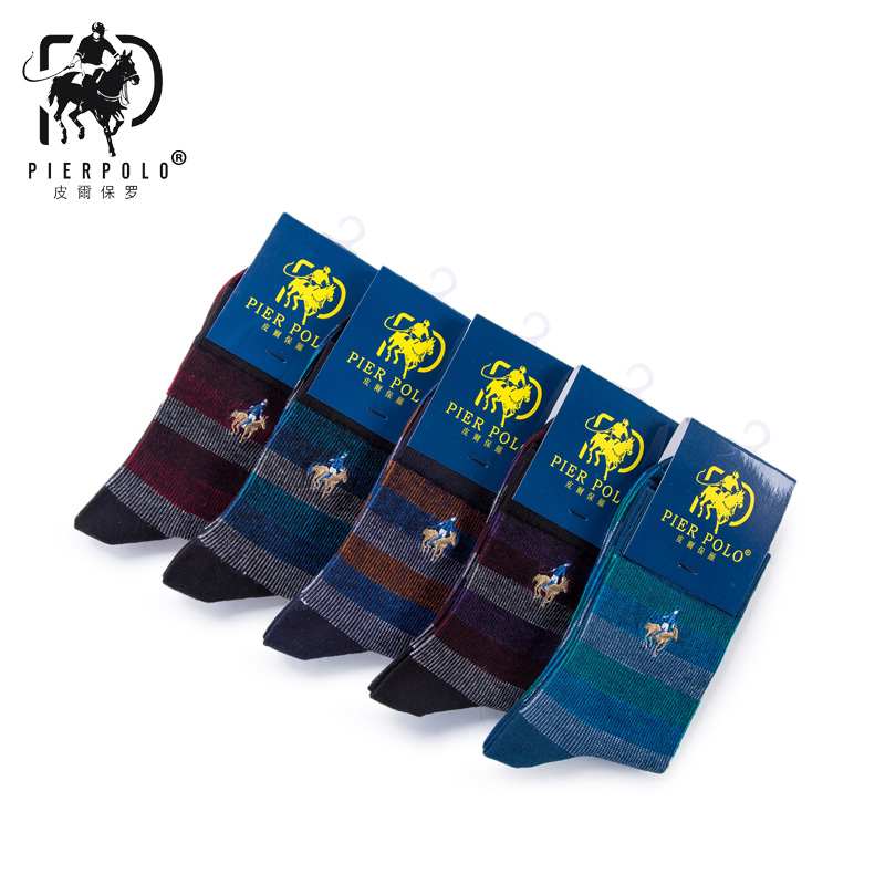 2019 Pier Polo Men Fashion Cotton Socks Calcetines Hombre Autumn And Winter New Cotton Color English Alphabet Casual Male Socks Men's Socks