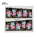 1 hoja de cubierta completa flores Nail Art Water transfer Stickers calcomanías de uñas filigrana manicura Wraps decoración DIY polaco herramientas M11-14