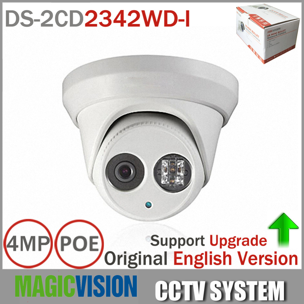 Hikvision DS-2CD2342WD-I English version 4MP camera EXIR CCTV Camera 120dB WDR p2p ip camera POE replace DS-2CD2332-I H.264+ newest original english version ds 2cd2342wd i 4mp wdr exir turret network camera mini dome ip camera cctv camera 2 8mm lens