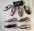 Мода женские весна лакированной кожи Дерби обувь жемчужина пятки квартиры удобная slip-on loafer EU35-40