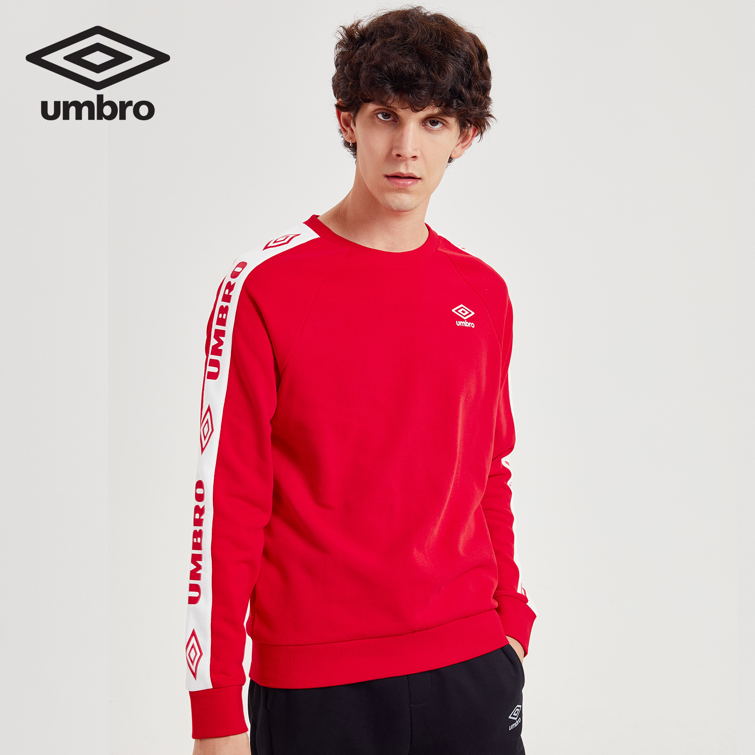 Umbro 2018 Autumn New Men Round necked Fashion Sports sweater A String of Brand Signs Jacket