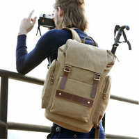 2017 Canvas 14 Laptop Bag Casual Backpack 35L Large Capacity Men Multifunction Travel Backpack For Canon