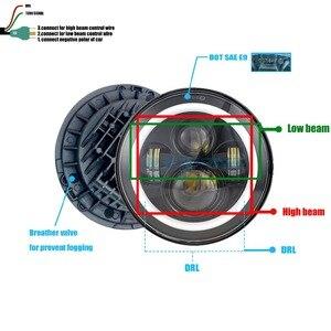 Image 3 - HJYUENG 7 インチ 22 用 Led オートバイツーリングヘッドライト 7 ヘイロー Led ヘッドライト角目