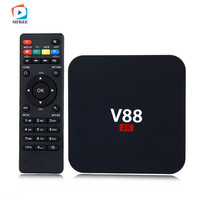 V88 Android TV BOX Rockchip 3229 Android 5 1 1G RAM 8G ROM WiFi 4K Kodi