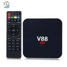 1 PCS V88 4 K Android 6.0 Smart TV Box Rockchip 1G/8G 4 USB 4 K 2 K WiFi Pleine Charge Quad Core 1.5 GHZ Media Player PK X96 haute