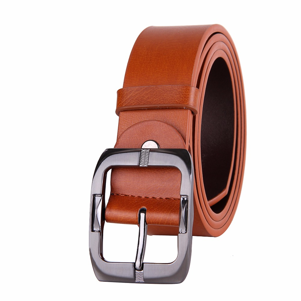 VOHIO High Quality cinto masculino Leather Belts for Men Luxury Brand Strap Male Belt for Man Vintage Pin Buckle Belt 5 color