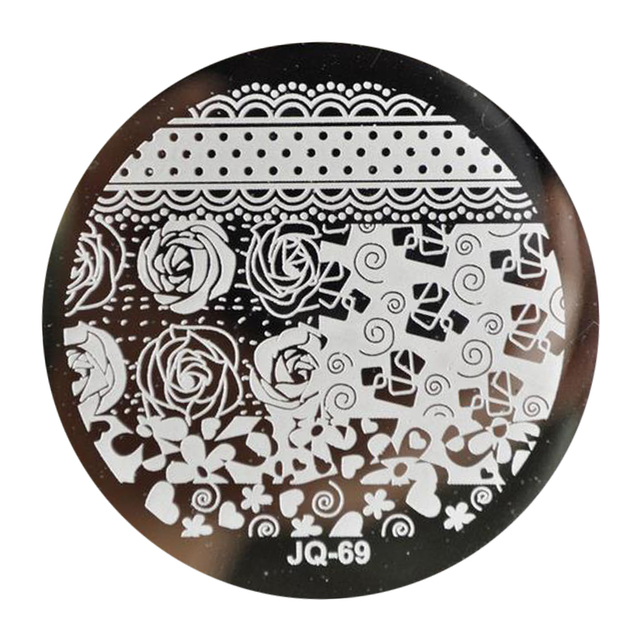 Beautiful Rose Flower Bouquet Nail Art Steel Plate Image Stamp ...