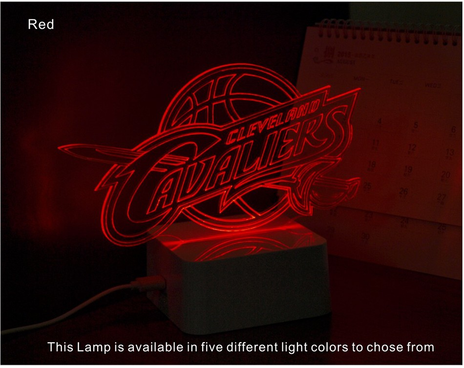USB Novel Lamp NBA 3D LED Night Lights as Home Bedroom Decorative Besides Lampara for Cavalier Team (7)