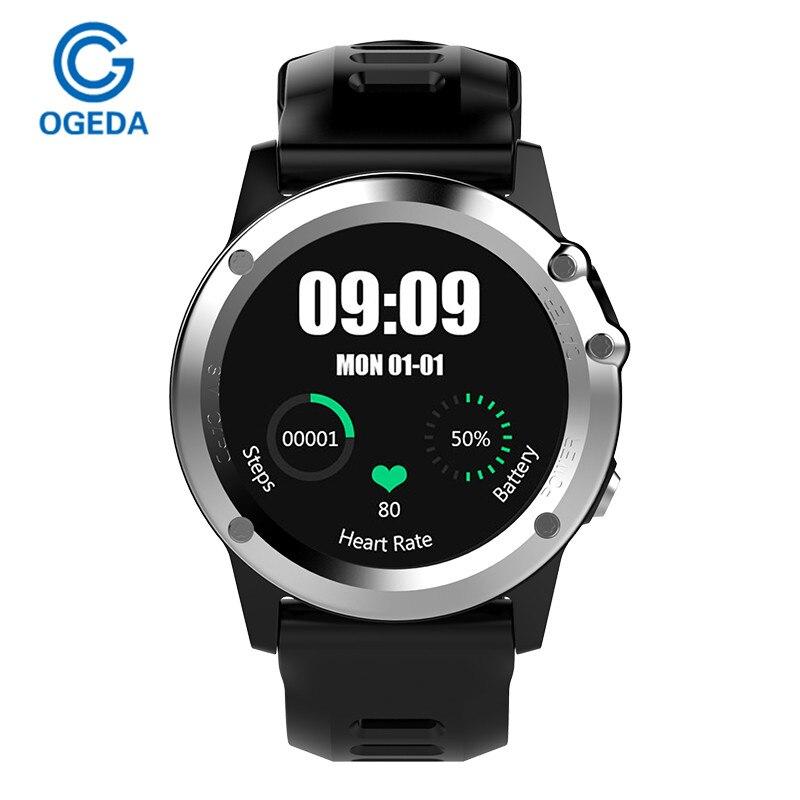 OGEDA H1 GPS Smart Watches MTK6572 Bluetooth IP68 Waterproof Smartwatch with Camera SIM SupportWIFI Heart Rate Health Tracker no 1 f2 ip68 bluetooth smartwatch green