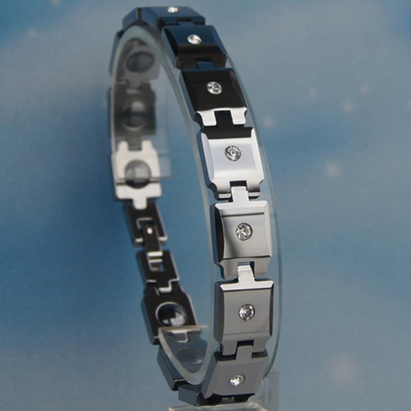 vary length 10mm width shiny polished full cz paved heavy hi tech scratch proof tungsten bracelet