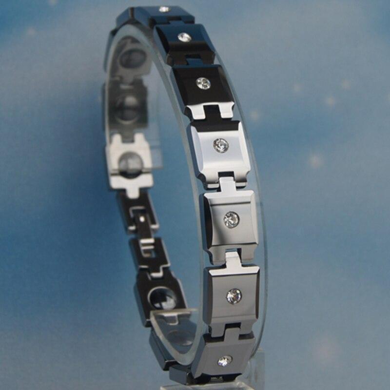 Variam de comprimento 10mm de largura brilhante polido completa cz pavimentada pulseira de tungstênio pesado oi-tecnologia à prova de riscos