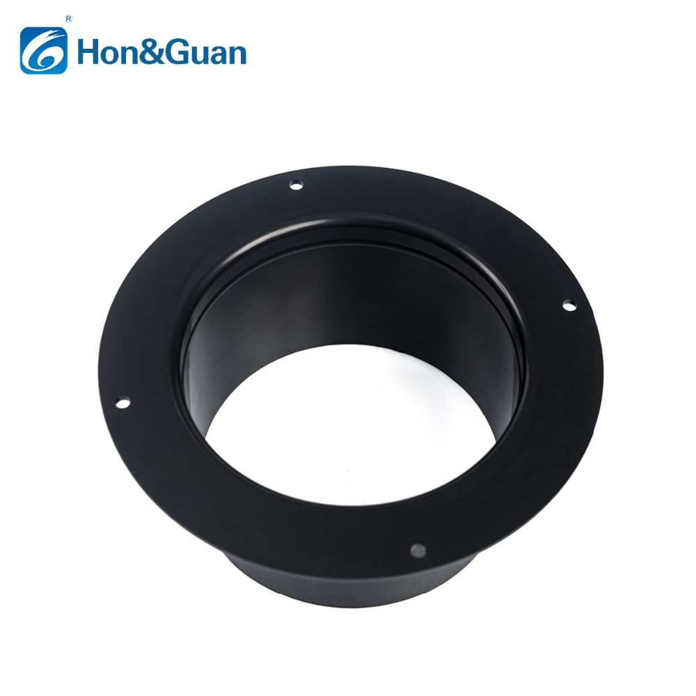 Duct Connector Flange 4 Inch Plastic Straight Pipe Flange for Heating Cooling Ventilation System
