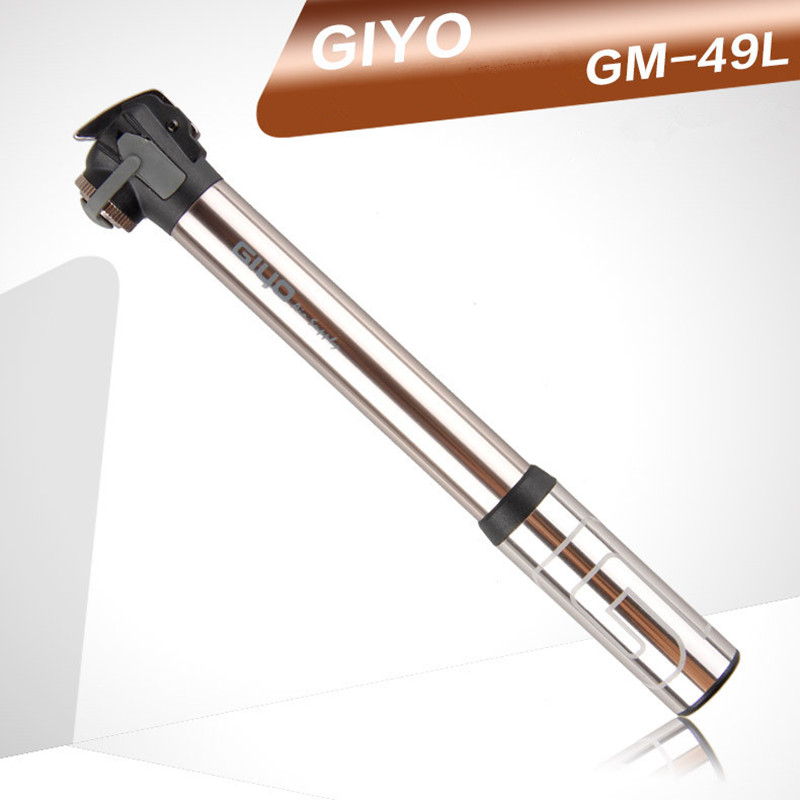 GIYO Road  Bicycle Air Pump A/V F/V Max 120psi 84g Aluminum Mini High Pressure Bike Pump Valvola Presta French American GM49L