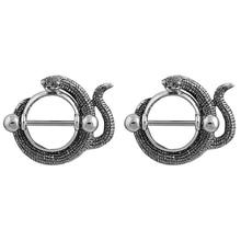 Women New Beautiful Vintage Serpentine Ring Snake Shape Piercing Nipple Woman Sexy Body Jewelry 2 Pcs