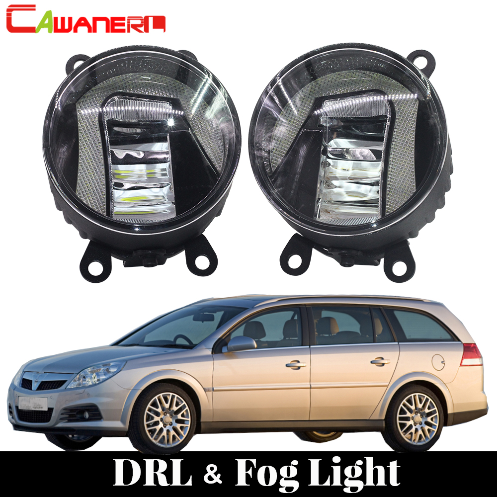 Cawanerl For Opel Vectra C 2002 2008 Car LED Fog Light DRL Daytime Running Lamp Driving Light White 6000K 12V Styling