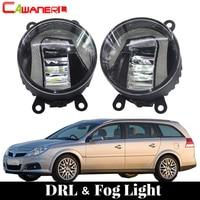 Cawanerl For Opel Vectra C 2002 2008 Car LED Fog Light DRL Daytime Running Lamp Driving