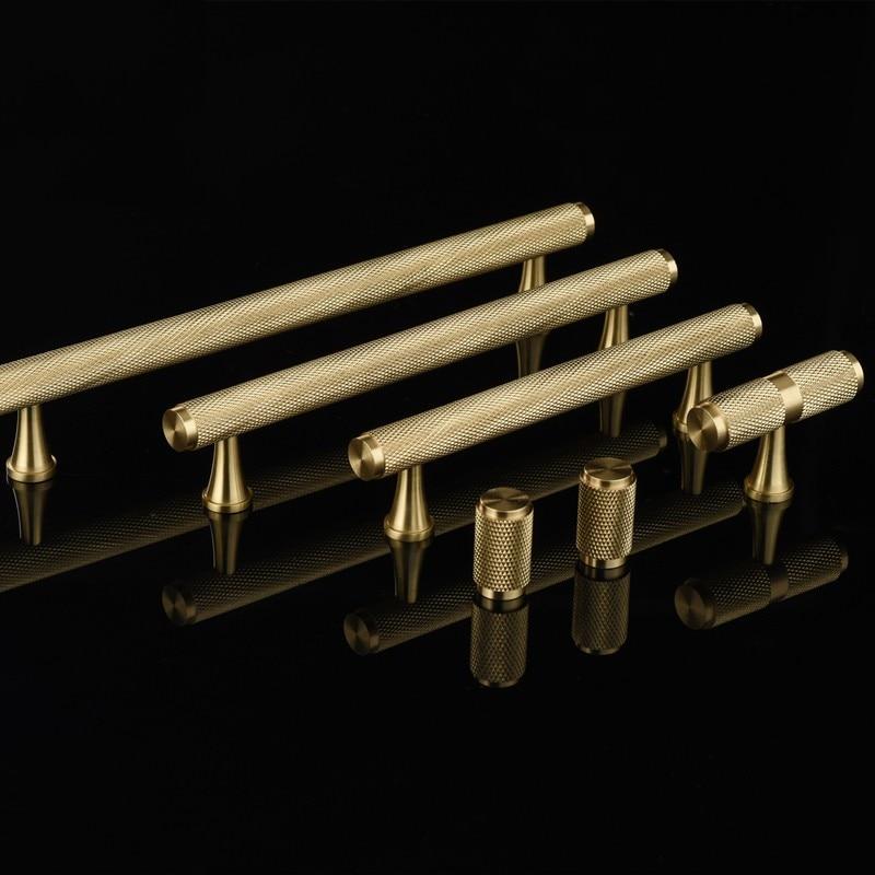 10PCS European Luxury Brass Cabinet Pulls Handles Cupboard ...