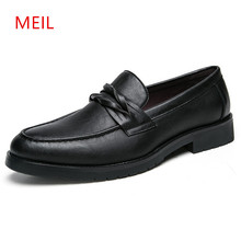 Formal Leather Shoes Men Wedding Pointed Toe Oxford for Elegant Office Dress Loafers Shoe