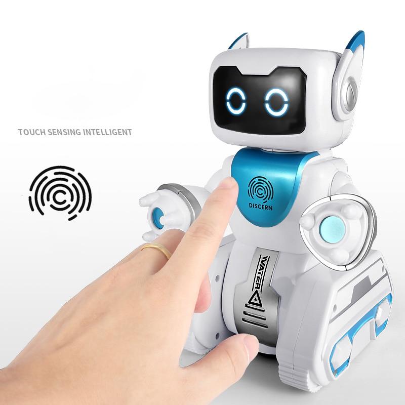 RC Robot hydroélectrique hybride Robot voix intelligente télécommande détection d'empreintes digitales avec chanson anglaise pour enfants cadeau jouets