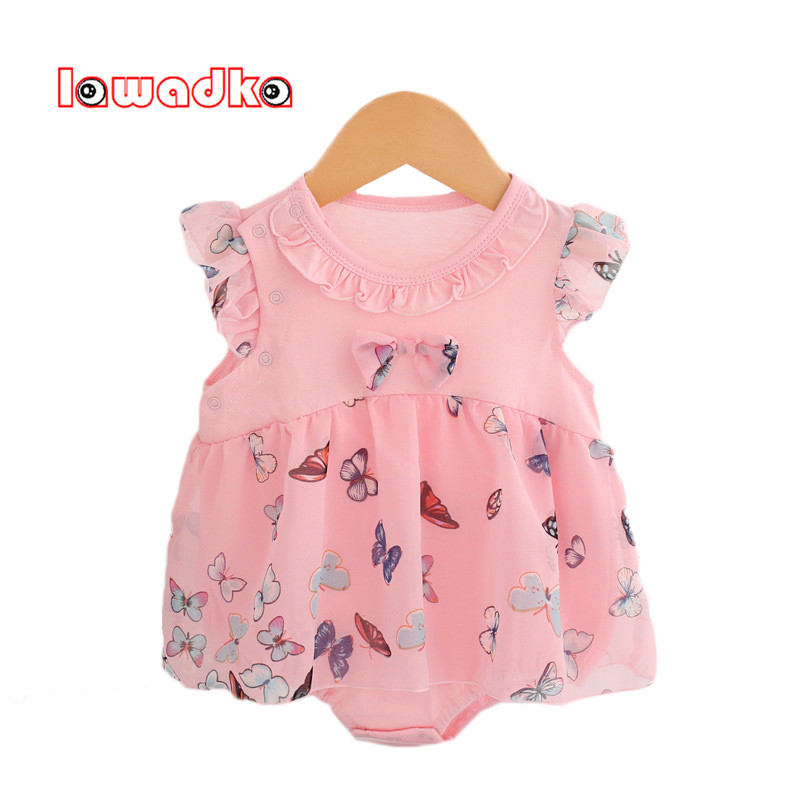 Lawadka Cotton+Mesh Baby Rompers Summer Baby Wear Infant Jumpsuit Boys Girls Clothes Roupas Infantil dinstry 2018 new born baby clothes bird print baby jumpsuit summer baby rompers baby cotton dress