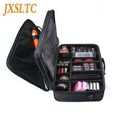 Women/Men Professional Travel Cosmetics Makeup bag vanity Organize Cosmetic Cases Large Capacity Beautician Suitcases for makeup