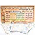 2016 Recién Llegado de Juguetes Para Niños Bloques De Madera Educativo Del Bebé de Aprendizaje Temprano de Enseñanza Montessori Matemáticas Regalo Formas Cognición