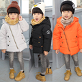 2017 Fashion Winter Children Girls Boys Warm Thick Down Parkas Children Long Outerwear Hooded Jacket Coat Clothing for Kids
