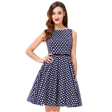 Women Summer Dress 2018 Retro 1950s 60s Vintage Rockabilly Dress Pinup Plus Size Sexy Polka Dots Short Party Dresses Vestidos