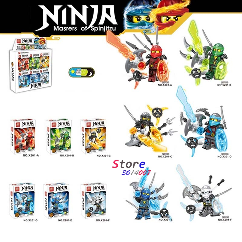 6pcs star wars superhero Ninja weapon Series diy Kai Cole Jay Lloyd Nya Zane building blocks model bricks toys for children 2017 new single ninja movie nadakhan dogshank kai jay cole zane nya lloyd building brick toys x0112 x0118