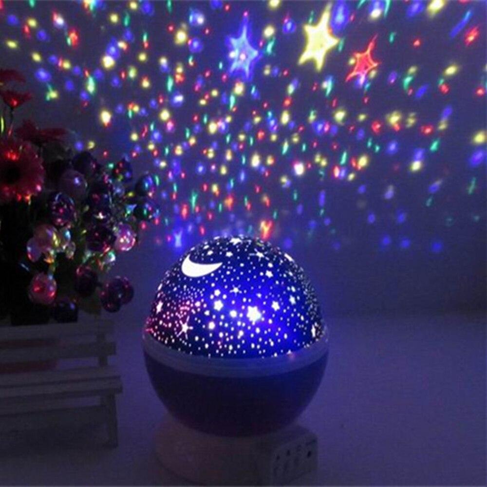 Светодиодный ночник прикроватный цветной декоративный необычный проекционный вращающийся проектор лампа мечты