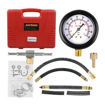 TU-113 Fuel Injection Pump Injector Tester Pressure Gauge Test 0-100psi Gasoline Car Petrol Gas Engine Cylinder Compression tu 443 deluxe manometer fuel injection pressure tester gauge kit system 0 140 psi