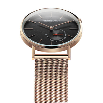 New Simple Fashion Unisex Thin Quartz Watches Milanese Full Steel Men Wristwatch Rose Gold Mesh Watch Women Analog Relogio Brand