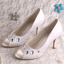 Customize Color New Arrive Pumps-2016 Shoes Women Fashion Wedding Crystal Diamond Peep Toe