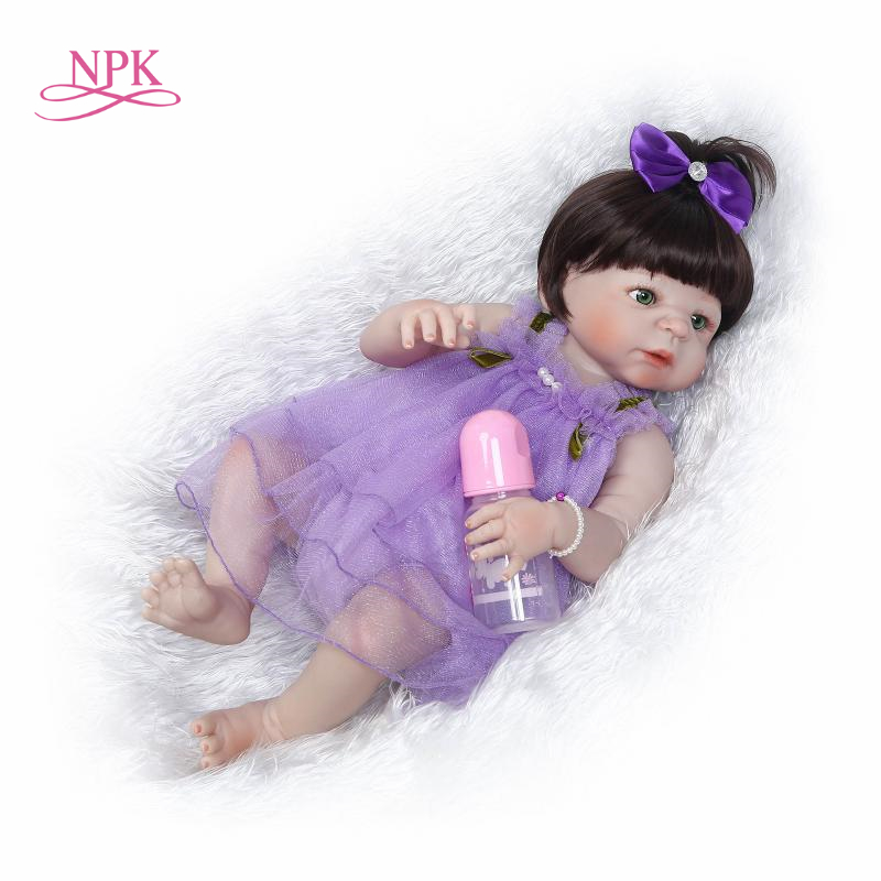 купить NPK 55cm Simulation Silicone Reborn Boy Baby Doll Kids Bathing Playmate Lifelike Gifts Soft Baby Kids Toys по цене 4731.95 рублей