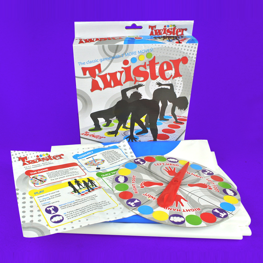 Zhenwei Classic Twister Game Play Mat for Party Ultimate Floor Game Ties You Up In Knots Board Toy Fun Party Family