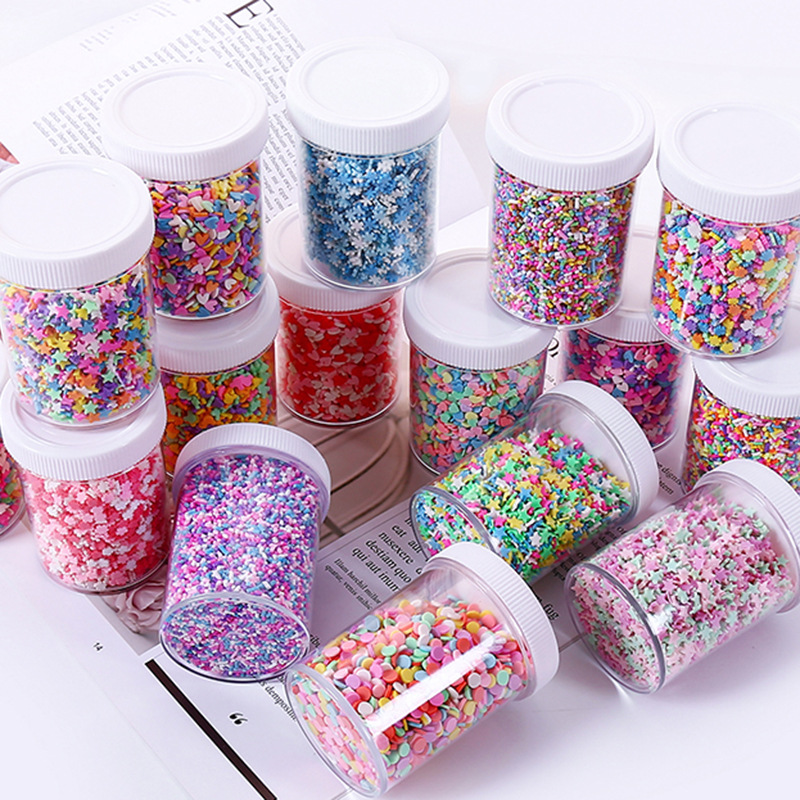 100g/Box Cake Star Slice Filler For Nails Art Tips/Balls Slime Soft Clay For Kids Toys Lizun DIY Accessories Supplies Decoration