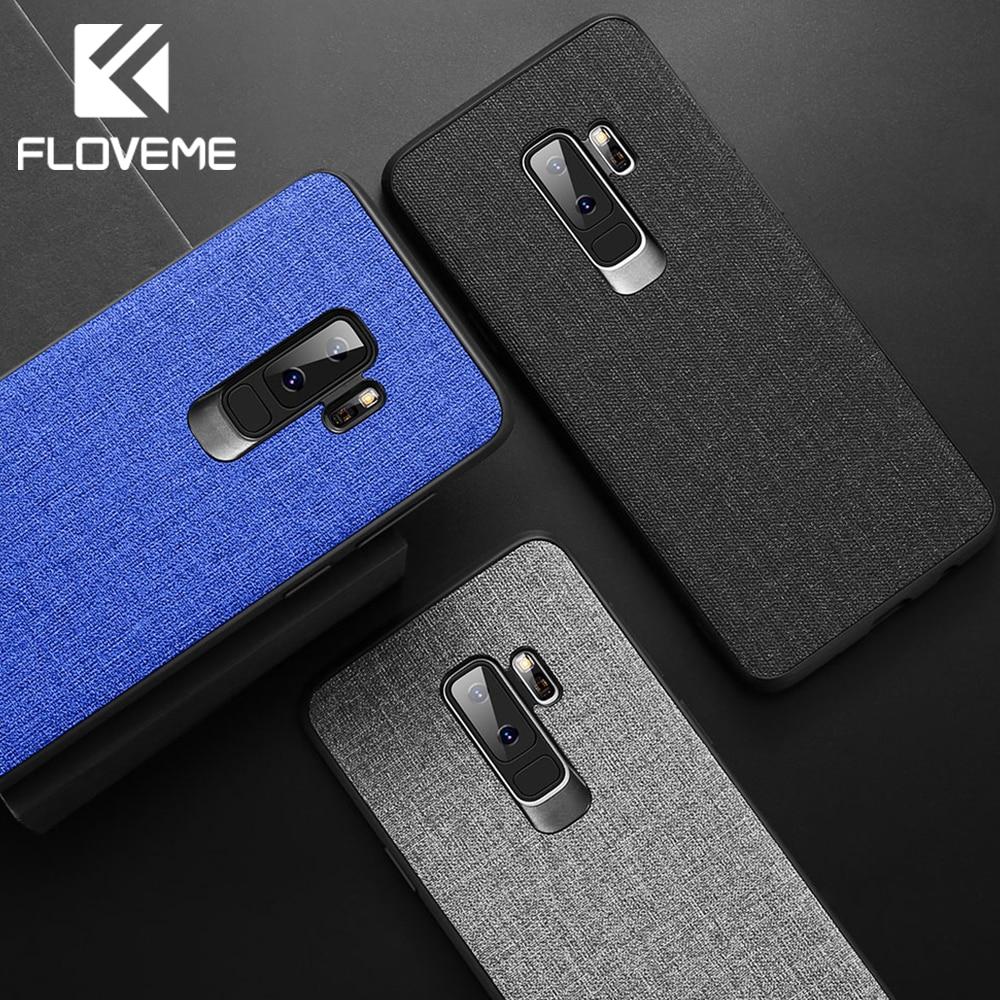 FLOVEME Retro Cloth Case For Samsung S9 S8 Plus Note 8 9 Business Phone S7 Edge S10 A8 J8 2018 Cover Cases