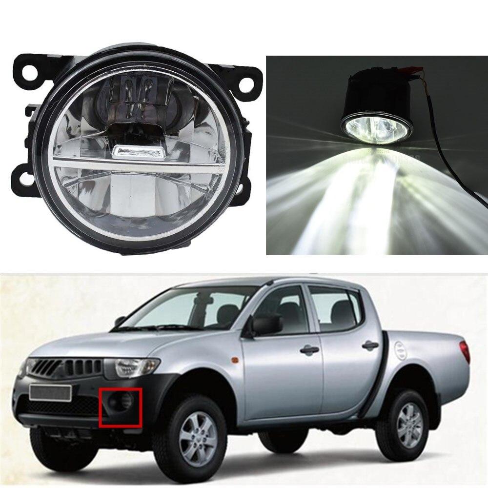 1 Pair Car Accessories Replace LED Fog Light Daytime Running Light DRL For Mitsubishi L200 KB_T KA_T Pickup 2005-2015 Halogen