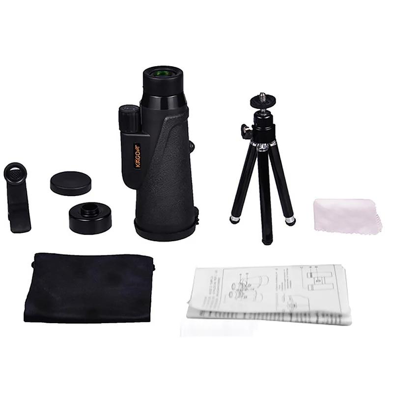 Купить с кэшбэком Compact Monocular Telescope for Phone 8x42 HD Waterproof Optical Monoculars Outdoor Hunting Bird-watching Telescopes with Tripod