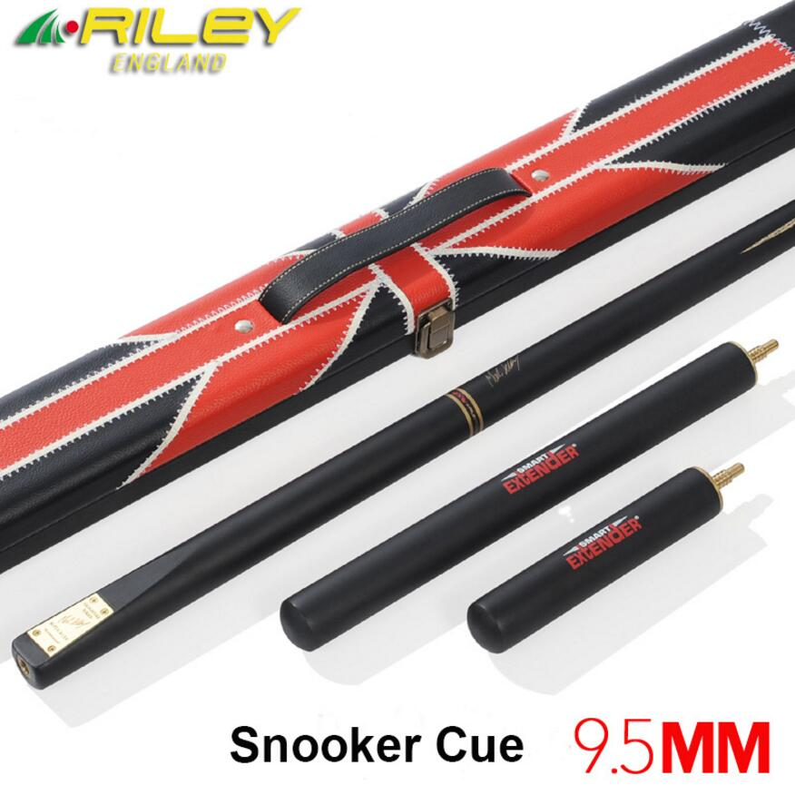 RILEY Ash Wood 3/4 Snooker Cue 9.5mm Tip 2 Extensions with Snooker Cue Case Set Professional Handmade Billiard Stick Kit China RILEY Ash Wood 3/4 Snooker Cue 9.5mm Tip 2 Extensions with Snooker Cue Case Set Professional Handmade Billiard Stick Kit China