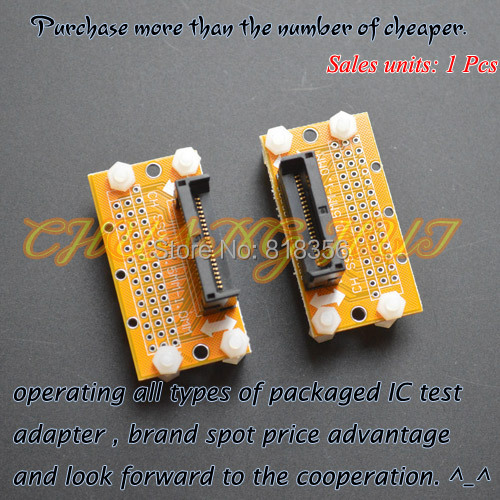 IC TEST SSOP8--SSOP42 test socket Pitch=1.0mm SSOP IC TEST SOCKET Width can be adjusted freely without restriction