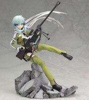 Anime Figure 22.5 CM Sword Art Online II Asada shino Phantom Bullet PVC Action Figure 1/7 scale Collectible Model Toy Brinquedos