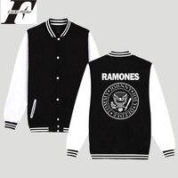 2017 New Fashion Rock Band Ramones Bluzy Kobiety Ponadgabarytowych Dres Moletom Feminino Kobiety Punk Muzyka Baseball Kurtka Plus Size