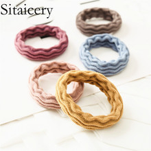 Sitaicery 6PCS/Set New Head Rope Hair Accessories For Sweet Ladies Girls Kids Candy Color Elastic Bands Scrunchie Ties